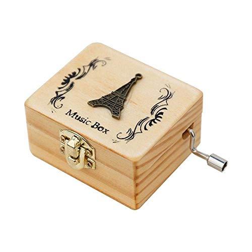 Spieluhr Antike Geschnitzte Holz Handkurbel Box Spieluhr Viele Musik Zufall Spielen Holz Spieluhr Für Geburtstagsfeier Dekor H Als Geschenk - Antike Warenkorb