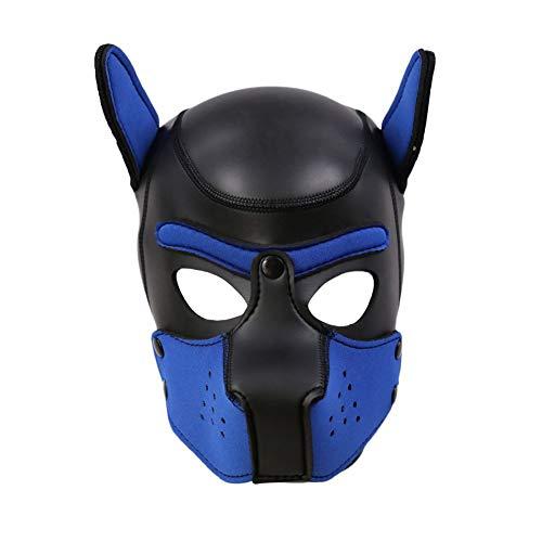 Kostüm Benutzerdefinierte Requisiten - COUNTN Sexy Cosplay Puppy Mask, Hund Vollweiche Kopfmaske Prop Padded Rubber Puppy Play Mask