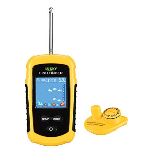 OD-B Kabellos Sonar Sensor Transducer Fischfinder, LCD Bildschirm Alarm Echolot Angelausrüstung, Anzeige Wassertiefe/Temperatur, Fischgröße / -Standort Bottom-lcd-bildschirm-anzeige