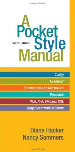 A Pocket Style Manual 6th edition by Hacker, Diana, Sommers, Nancy (2011) Spiral-bound par Diana, Sommers, Nancy Hacker