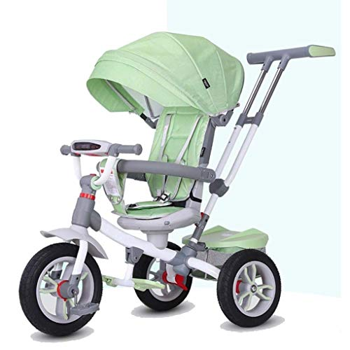 YETC Kinder Tricycles mit abnehmbarem Pedal-Speicher-Beutel-Kleinkind-Bike-Kleinkind-Tricycle (Color : Green)
