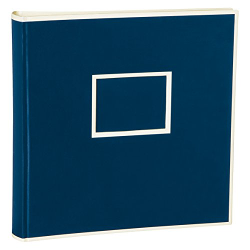 Semikolon Jumbo Album mit 50 Blättern cremeweißem Fotokarton Format: 30 x 30 cm, blau (marine)