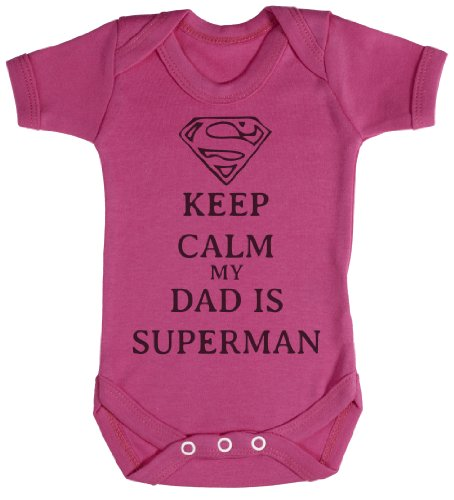 TRS - Calm Dad Is Superman Baby Bodys / Strampler 0-3 Monate (Superman Body)