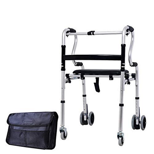 Zfggd Taburete de Cuatro Patas con Ayuda de un Andador con función de Andador Multifuncional para Personas Mayores Que Caminan con Cuatro pies. (Color : A)