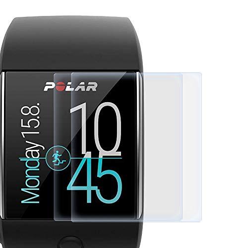zanasta 2 Stück Schutzfolie kompatibel mit Polar M600 Bildschirmschutzfolie Nano Schutz Folie | Volle Abdeckung, Klar Transparent