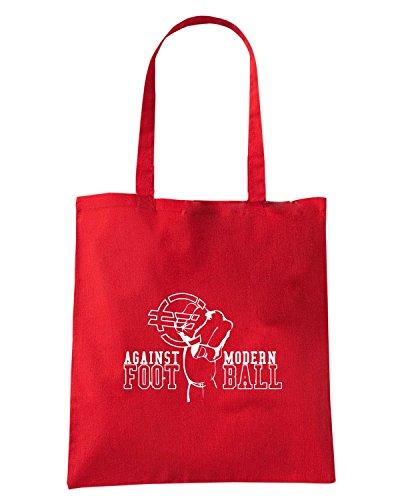 T-Shirtshock - Borsa Shopping TUM0162 AGAINST MODERN FOOTBALL Rosso