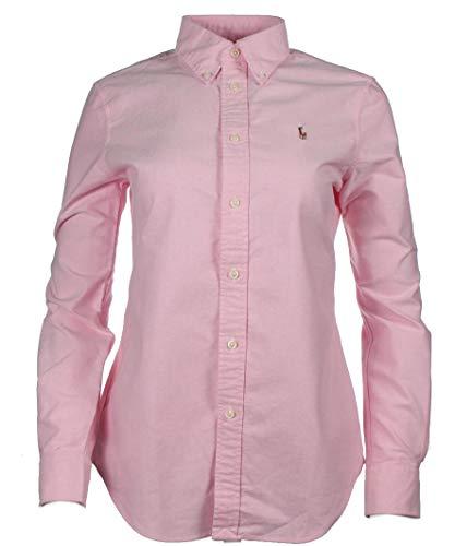 Ralph Lauren Damen Bluse/Hemd - Baumwoll-Hemd (Pink, S)
