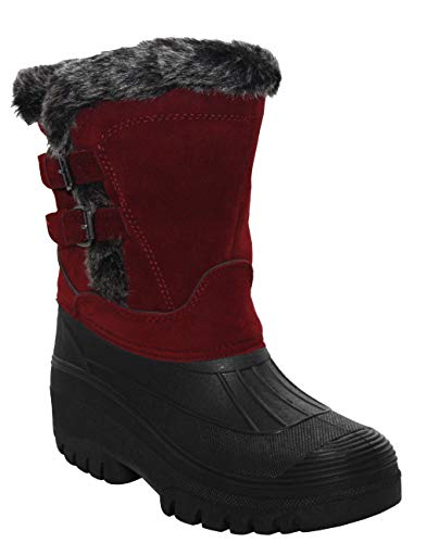 Groundwork. Womens Ladies Durable Water Resistant Snow Rain Thermal Fur Fleece Lined Winter Mud Mucker Boots UK 4-8
