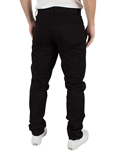 J Lindeberg Herren Grants 5-Pocket-Jeans Kontrast Twill, Schwarz Schwarz