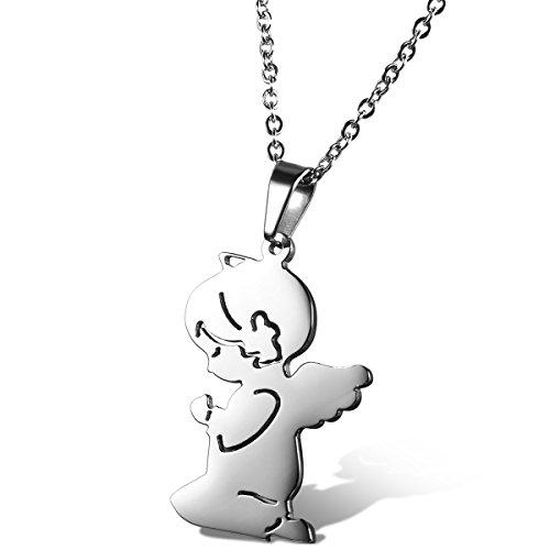 flongo-acier-inoxydable-pendentif-collier-adorable-fille-ange-prire-chane-45cm-couleur-argent-charme