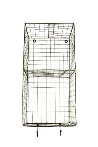 R.E.D Vertikale Metall Draht Country Stil Rechteck Rack Hängekorb mit Haken–50,8cm H x 25,4cm W x 17,8cm Tief (Tief Utility Box)