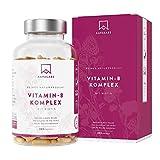 Complesso Vitaminico B - 180 capsule - 286,3 mg/Dose Giornaliera - Riduzione della Stanchezza + Fatica - Promuove il Normale Metabolismo Energetico - 100% Vegano - Qualità Nordica di AAVALABS