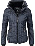 Navahoo Damen Winter Jacke Steppjacke Nimmersatt Blau Gr. M