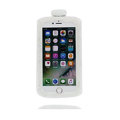 iPhone 6s Plus Custodia, TPU protezione Shell iPhone 6 Plus Copertura, iPhone 6S Plus Case Cartoon Tdurevole Cover - 3D Rosa coniglio, Anti-Graffi bianca