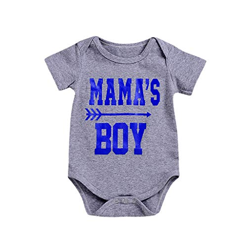 Cheerleader-mama Shirt (Knowin-baby body Sommer Baby Kurzarm mit Mama's Boy Brief Drucken Einteilige Tasche Furz Kleidung Strampler Kleidung Jungen & Mädchen Kurze Ärmel Bodysuit Strampler Jumpsuit)