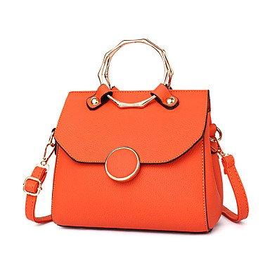 Damenmode PU Leder Messenger Umhängetaschen/Handtasche Tote Orange