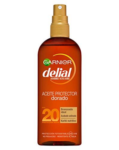 Garnier Delial Aceite Protector Solar Dorado Sublime