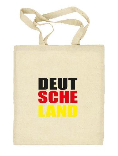 Shirtstreet24, EM/WM 10 - DEUT SCHE LAND, Fußball Natur Stoffbeutel Jute Tasche (ONE SIZE) Natur