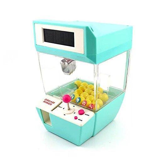 Mini-Klauen-Maschine Arcade Electronic Crane Claw Spiel Claw Grabber Bälle Candy Maschine Spielzeug Wecker grün