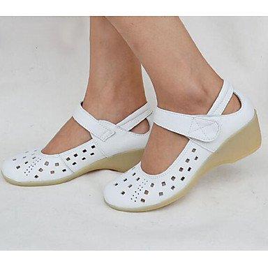 Rtry Chaussures Femmes Bateau Confort Vacchetta Été Automne Heel Informel Comfort Cuneo Blanc 1a-1 3/4 En Blanc Noi9.5-10 / Eu41 / Uk7.5-8 / Cn42 / Us1 Eu32 / Uk13 Little Kids