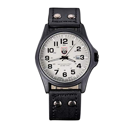 Mosstars Herren Luxusuhren Quarz Uhren Edelstahl Minimalistische Quarz Zifferblatt Lässige Armbanduhr (D)