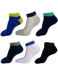 Panegy – Lot de 6 paires de Chaussettes à Motif Pour Homme – Doigts de Pied Séparés – Chaussettes avec Orteils – Coton – couleur disponible