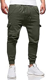 suchergebnis auf amazon de f�r baggy hosen herren bekleidung  herren jogger cargo hose stretch chino jeans mode sporthose freizeithose