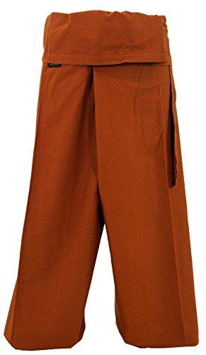 Guru negozio di cotone pantaloni pescatore, pantaloni yoga avvolgente in Nepal–Petrol, Uomo/Donna, Blu, Cotone, Size: One size, Fischer Pantaloni Lunghi taglia Alternative Abbigliamento Rostorange