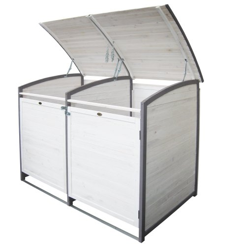 Habau 3140 Mülltonnenbox 120 Liter Doppel, 122 x 76 x 116 cm - 2