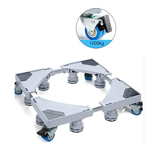 Verstellbare Ergonomische Mobile (JOSTSNM Einstellbare Mobile Basis, Waschmaschine Mobile Halterung Kühlschrank Fußablage Pad Hohe Halterung Automatische Rolle)