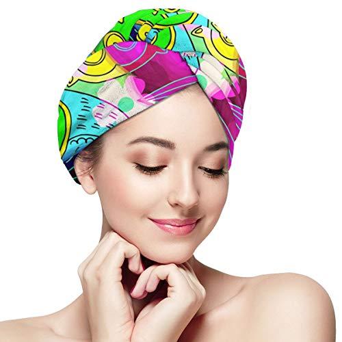 Haartücher Bunte Blumen (17) Haartuch Wrap für Frauen, Mikrofaser Waffel Kopftuch -