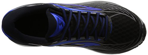Brooks Transcend 4, Chaussures de Course Homme Noir (Black/electric Brooks Blue/silver)