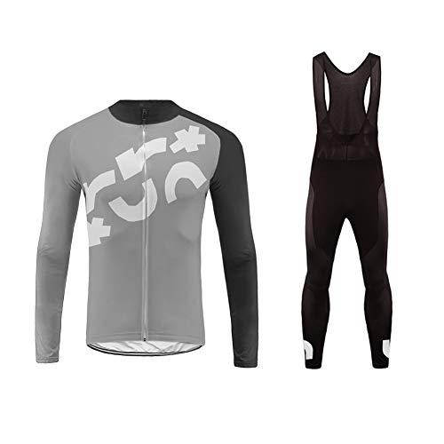 Uglyfrog Uomini Autunno Traspirante Asciugatura Veloce Confortevole Maglia Manica Lunga +3D Long Pantaloni Imbottiti Vestiti di Riciclaggio Equitazione Sportivo Body