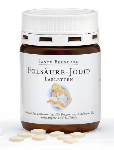 Sanct Bernhard Folsäure-Jodid-Tabletten mit Jodid, Folsäure, Inhalt 240 Tabletten