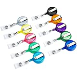 Ruluti 10Pcs Office & School Supplies Porta Badge A Scomparsa Skipass ID Card Badge Nome di Titolari di Anti-Perso Clip, Colori Casuali