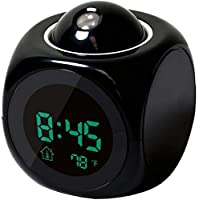 Multi-function Digital LCD Wall Projection Voice Talking Temperature Display LED Alarm Clock