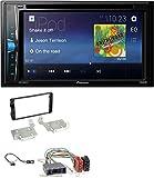 caraudio24 Pioneer AVH-A100DVD AUX USB 2DIN MP3 DVD CD Autoradio für Mitsubishi ASX (ab 2015)