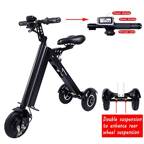 AA-folding electric bicycle ZDDOZXC Mini Falten Elektroauto Erwachsene Lithium-Batterie Fahrrad Dreirad Lithium-Batterie Faltbare Tragbare Reise Batterie Auto (kann Gewicht 120 KG)