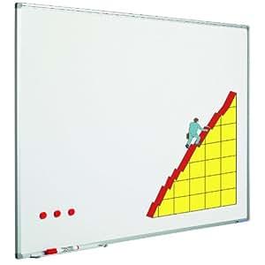 Smit Visual Tableau blanc 100x150cm émaillé profile softline Articles de bureau Formation et Projection Tableaux blancs (unité de vente: vendu à la pièce)