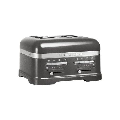 Kitchenaid 5KMT4205EMS Artisan -Toaster für 4 Scheiben, Medaillon silber