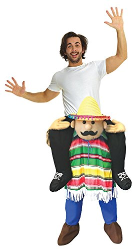 (Neu Huckepack Tragen Witzig Kostüm Unisex - Cinco De MayoMit selbst füllen Beine)