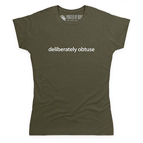 Deliberately Obtuse T-Shirt, Damen Olivgrn