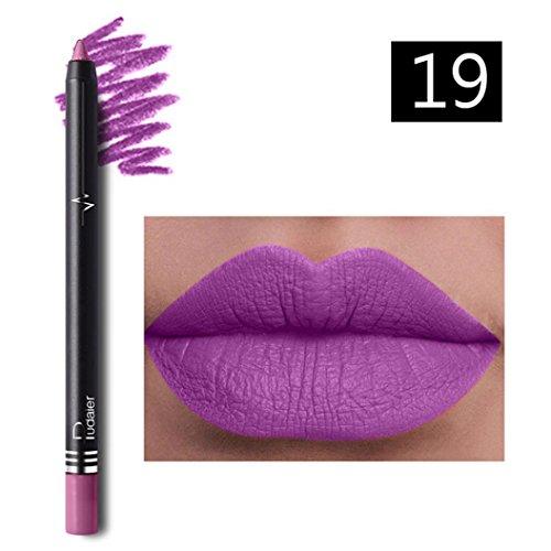 Yogogo 26 Voyage éTanche Couleurs Professionnelle Permanente Crayon Set Lip Liner Crayon Rouge à LèVres Crayon Contour Des LèVres Avec Couvercle Pour Maquillage (F)