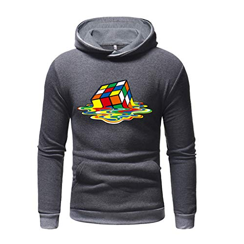 Unisex 3D Druck Hoodie Drawstring Taschen Long Sleeve Sweatshirt ◆Elecenty◆ Herbst Pullover Rollkragenpullover Langarm Kapuze Outwear Hoodies Mäntel Tops -
