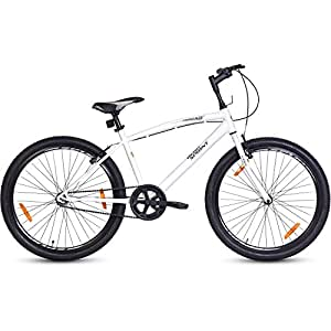 Hero  Sprint Squad 26T Single Speed Mountain Bike (White/Blue, Ideal For : 12+ Years )