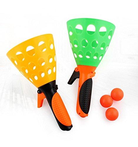 Hirolan Auswurf des Tischtennis Starten Und Ball Perfektes Spielzeug Zum Kinder Draussen Kinder Spielen Sport Strand Party Spaß Spielzeug Set (Pic) (Spielzeug Mini-tennis-ball Katze)