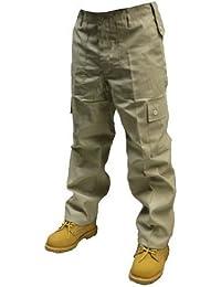 Adultes Uni Pantalon Combat couleur - Beige,taille -W32/L30