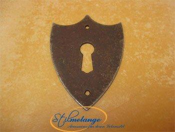Schlüsselblatt Biedermeier Wappen Antikeisen groß 57 x 42 - Qualität aus Europa seit 1998 -