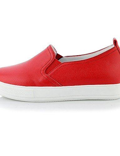 ZQ gyht Scarpe Donna-Mocassini-Casual-Punta arrotondata-Plateau-Finta pelle-Nero / Rosso / Bianco , red-us10.5 / eu42 / uk8.5 / cn43 , red-us10.5 / eu42 / uk8.5 / cn43 black-us5 / eu35 / uk3 / cn34
