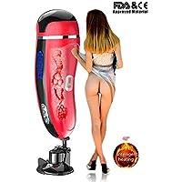 Masajeador eléctrico automático para hombres. Función de succión de calefacción como boca con 10 modos velocidades Masajista eléctrico eléctrico portátil